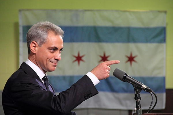 Rahm Emanuel announcing his candidacy for mayor in 2010 - DANIEL X. O'NEIL