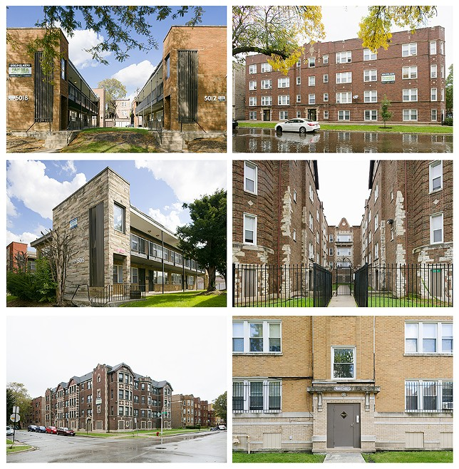 Pangea's apartment empire consists mostly of buildings with more than six units. Nearly three-quarters of their holdings are in South Shore, Chatham, Auburn Gresham, Woodlawn, and Austin. - TRAVIS ROOZÉE