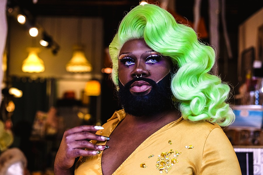 """""""Chris pushed me to be even more creative in my drag."""" - DARIUS GRIFFIN"""