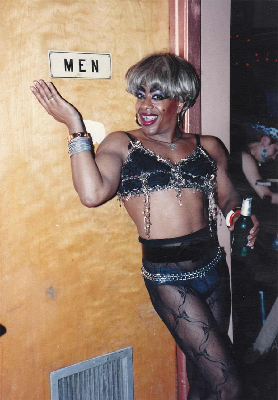 Drag queen and future presidential candidate Joan Jett Blakk at the queer zine festival SPEW, hosted by Randolph Street Gallery in May 1991. The fest helped bring together the founders of Homocore Chicago. - MARK FREITAS