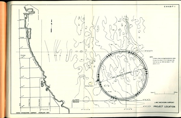 A Lake Michigan site for Chicago's third major airport, 1970 - CITY OF CHICAGO, DEPARTMENT OF PUBLIC WORKS
