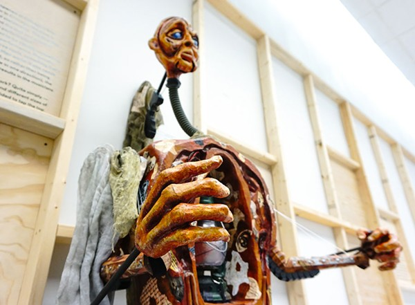 A puppet from Lifeline Theatre production of Frankenstein, designed by Cynthia Von Orthal - DESIGN MUSEUM OF CHICAGO