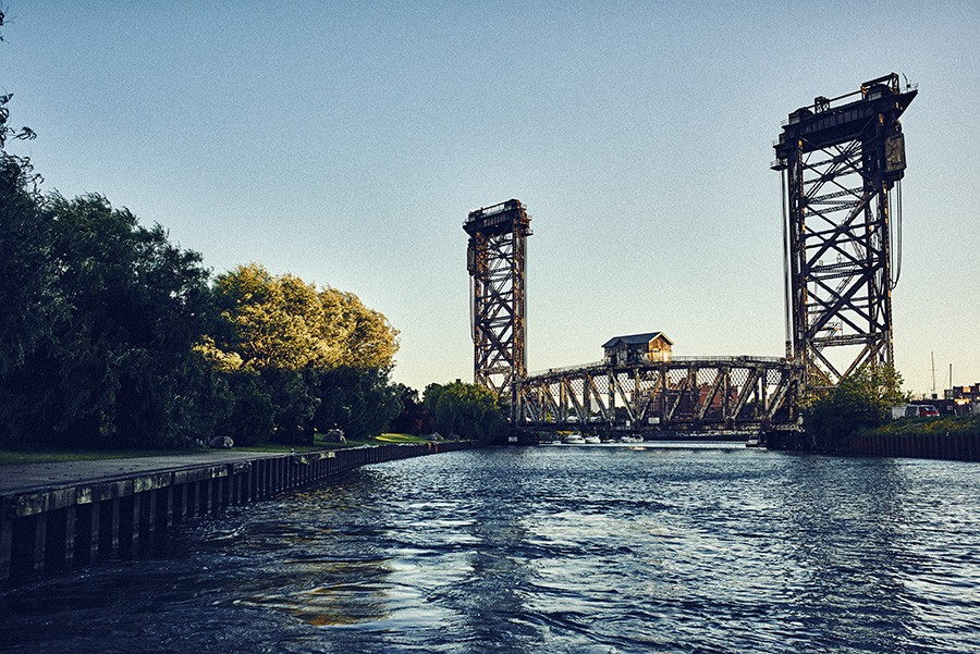 A view of the Canal Street Railroad Bridge at the China Town stop in Ping Tom Memorial Park. - MAX THOMSEN