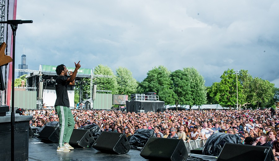 Saba on the Red Stage at last year's Pitchfork Music Festival - TIM NAGLE