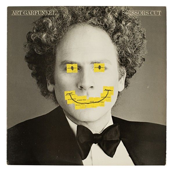 A customized version of Art Garfunkel's Scissors Cut LP, collected in Greg Wooten's book Marred for Life! - COURTESY OF J&L BOOKS