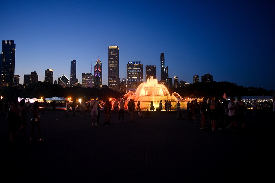 August 4, 2019:  Buckingham Fountain during Lollapalooza - KATHLEEN HINKEL