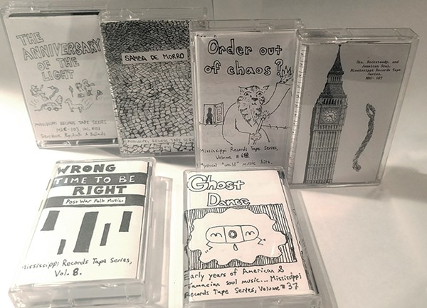 Several cassettes from the Mississippi Records tape series - MAGIC IAN