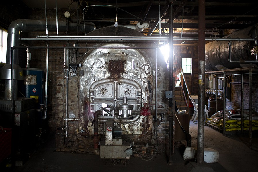 Oglesby Manor's original Kewanee boiler was state-of-art in the 1920s, and continues to be seen as a good machine today, but it requires careful and consistent maintenance that the co-op hasn't been able to afford. - KRISTEN NORMAN FOR CHICAGO READER