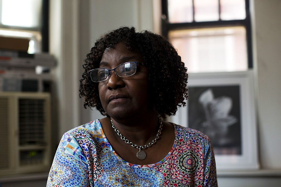 Martha Hardy moved into Oglesby Manor in 2001. She says she hasn't been able to have family over for Christmas in years due to persistent problems with heat and plumbing leaks. - KRISTEN NORMAN FOR CHICAGO READER