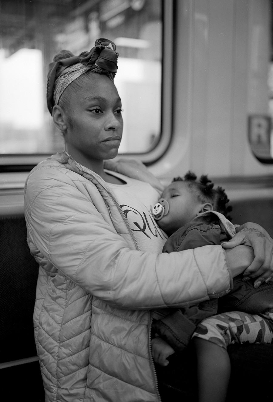 Monique Braithwaite with her son Lorenzo - W.D. FLOYD FOR CHICAGO READER