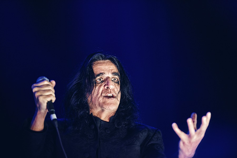Jaz Coleman onstage with Killing Joke at the United Center on Sunday, November 3 - MAX THOMSEN