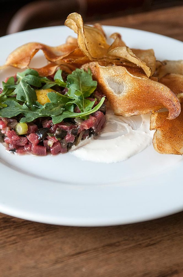 Before you take the family to Filament Theatre, don't miss the smoked beet tartare at Community Tavern. - ANDREA BAUER