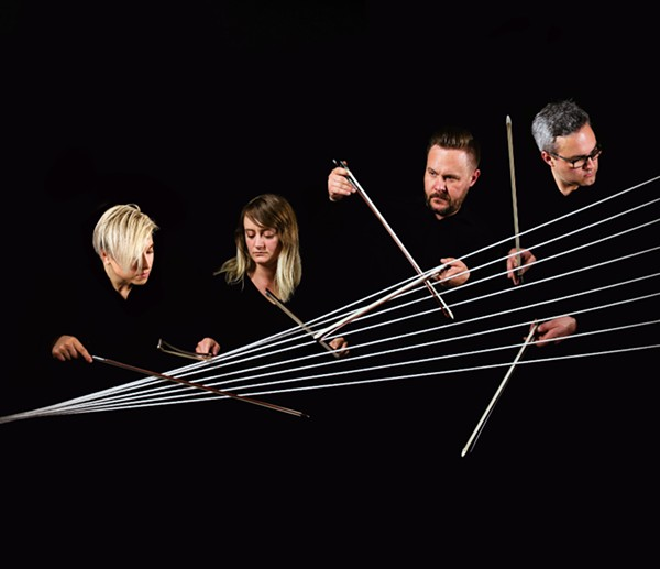 Spektral Quartet: from left to right, violinist Maeve Feinberg, violinist Clara Lyon, violist Doyle Armbrust, and cellist Russel Rolen - JOCELYN CHAUNG