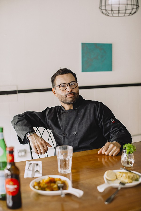 Francisco Bolanos grew up cooking alongside his grandmother in Madrid. - JEFF MARINI FOR CHICAGO READER