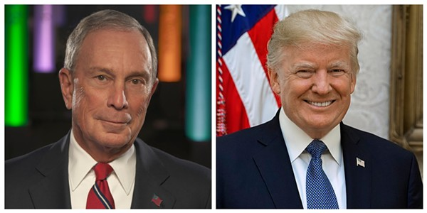 Being rich isn't the only thing Bloomberg and Trump have in common. - BLOOMBERG PHILANTHROPIES; SHEALAH CRAIGHEAD