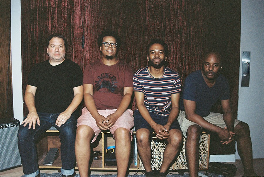 Josh Johnson (second from right) replaces Noel Kupersmith in the current version of the Chicago Underground Quartet, with Rob Mazurek, Jeff Parker, and Chad Taylor. - COURTESY ASTRAL SPIRITS RECORDS