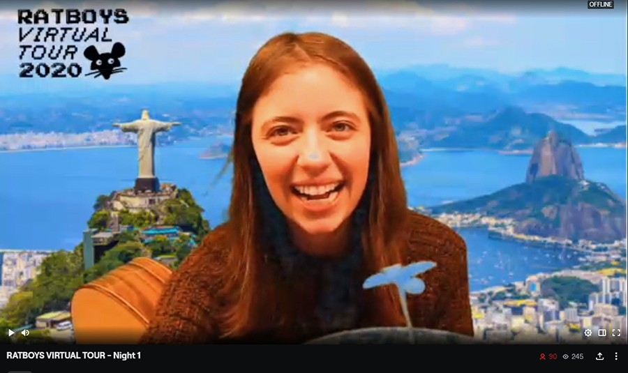 On the first night of Ratboys Virtual Tour, Julia Steiner transported herself to Rio de Janeiro. - COURTESY THE ARTIST