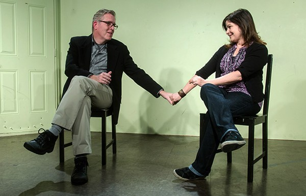 Michael McCarthy onstage with his wife, Susan Messing. - JERRY A. SCHULMAN