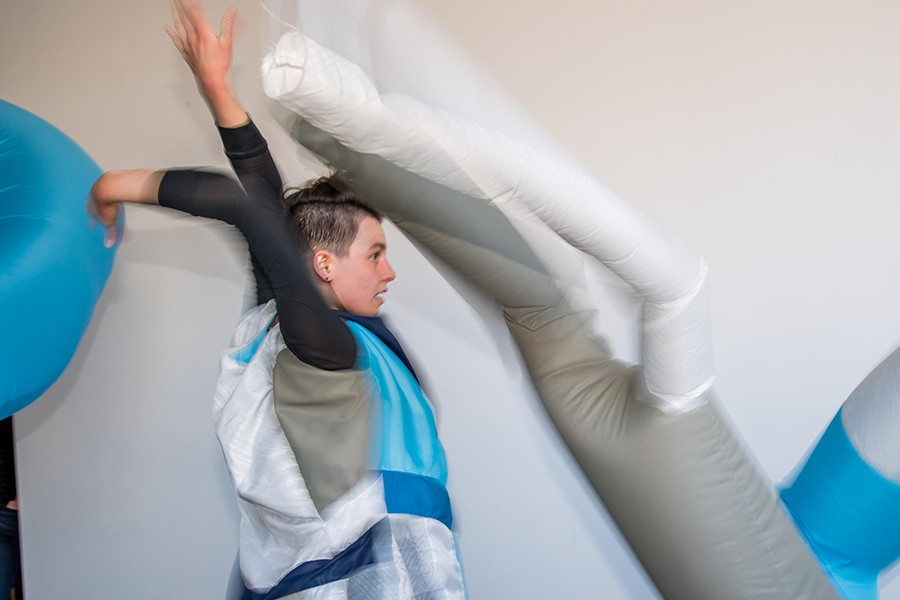 """Kristin Abhalter Smith received a $2,100 artist project grant from the IACA in 2018 that helped pay for materials and performers for a project called """"Antecedent."""" - PATRICK GORSKI"""