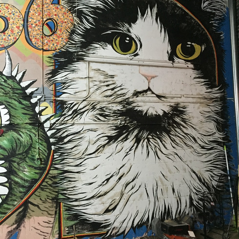 A mural of Precious, the Odd Obsession store cat - COURTESY JOSH BROWN
