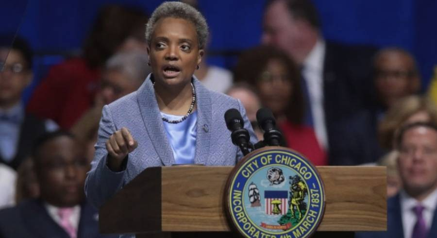 Lightfoot speaks during her inauguration ceremony on May 20, 2019. - GETTY IMAGES