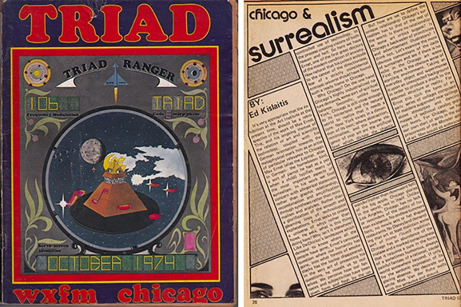 The October 1974 Triad radio guide contains a long essay about surrealism in art. - COURTESY SAUL SMAIZYS