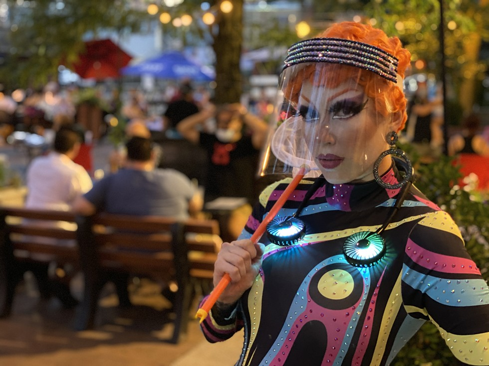 """""""For me, drag is so much about community and human interaction. I live alone, so performing in my house to a tripod and my dog just doesn't appeal to me."""" 