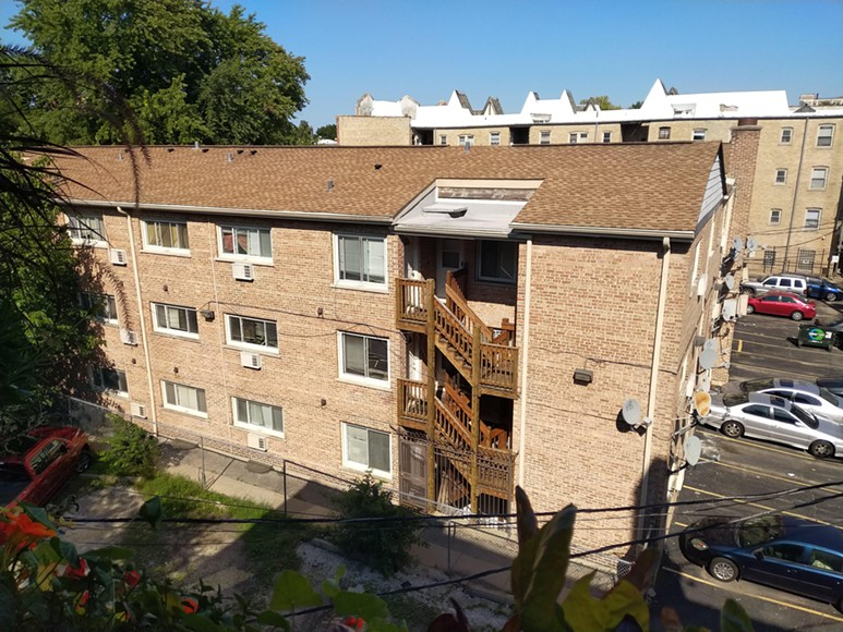 The Rogers Park apartment where Sam lives is owned by Greenspire, a company that bought up condo units at a bargain after the housing market collapsed. - MAYA DUKMASOVA