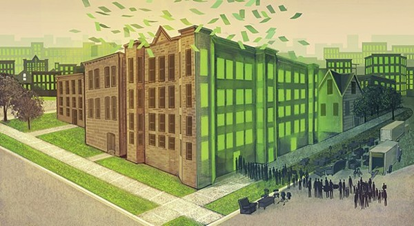 Maya Dukmasova's May16, 2019 story about the Pangea apartment empire and its eviction case filings won the 2020 AAN Award for Feature Story. - JUSTIN SANTORA