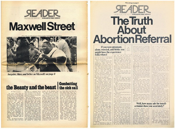Two of the first Reader covers from 1971