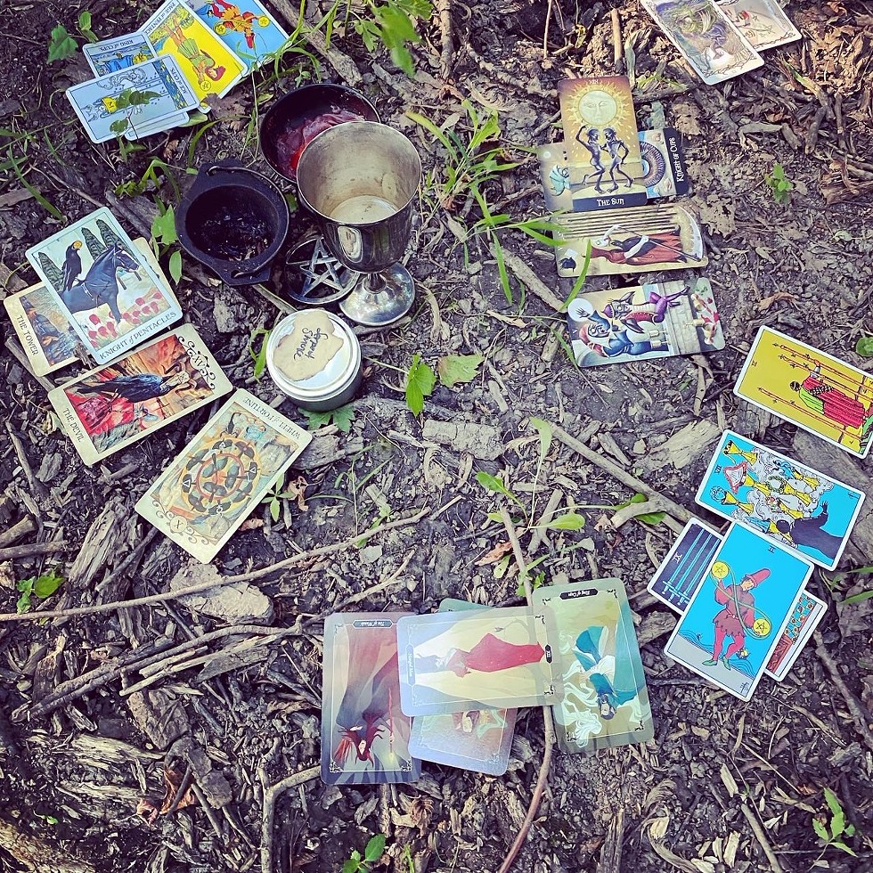 The Malliway Bros. Witches Conclave hosts COVID-safe events like Tarot Round Robin in the woods. - COURTESY MALLIWAY BROS.
