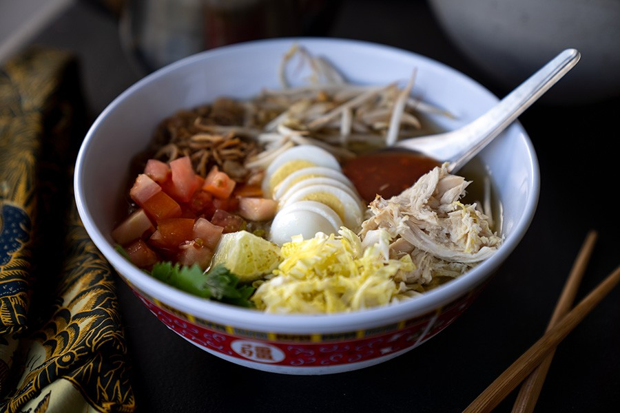 Soto ayam, Mama Betty's special-occasion chicken soup - MATTHEW GILSON FOR CHICAGO READER