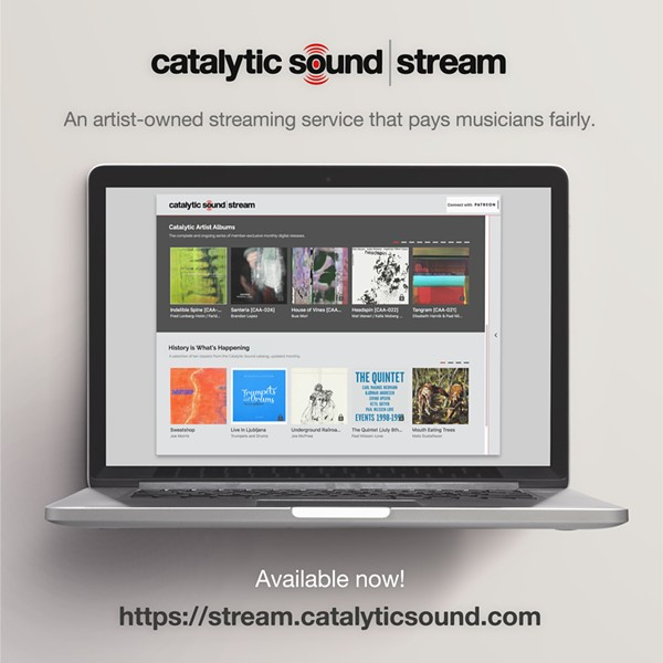 It's difficult to photograph a streaming service, but Catalytic Sound helpfully provided this image. - FEDE PEÑALVA
