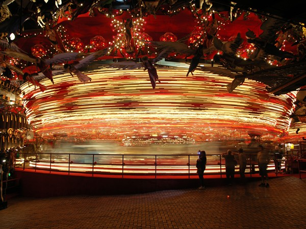 This isn't the right carousel. It's a picture I took of the carousel at the House on the Rock in 2007, because that's all I have on me. - PHILIP MONTORO