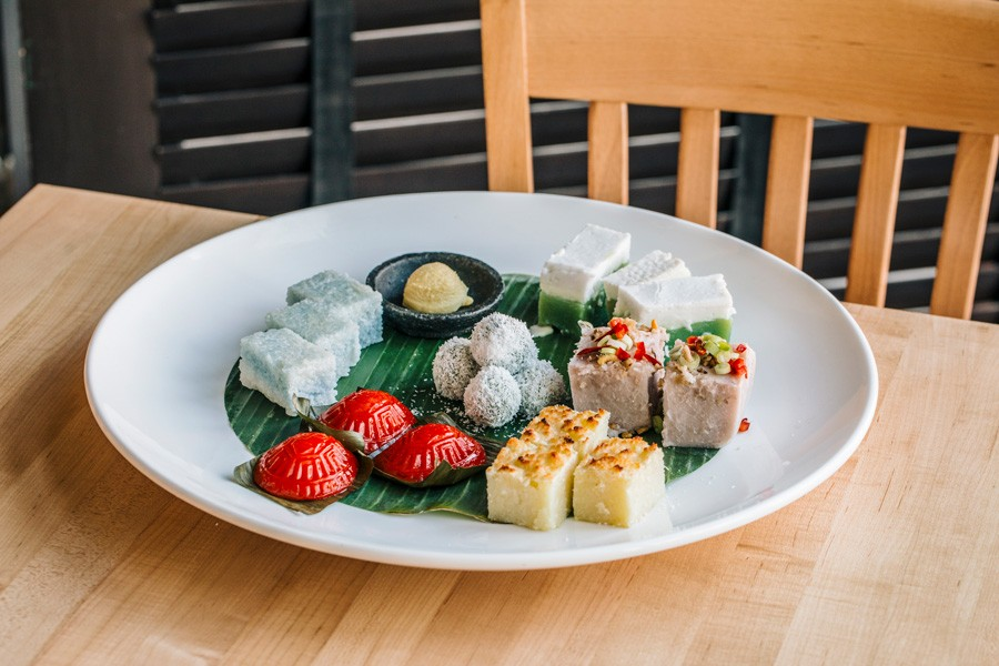 Low says Kapitan's daily offerings of kuih regularly sell out. - JEFF MARINI FOR CHICAGO READER
