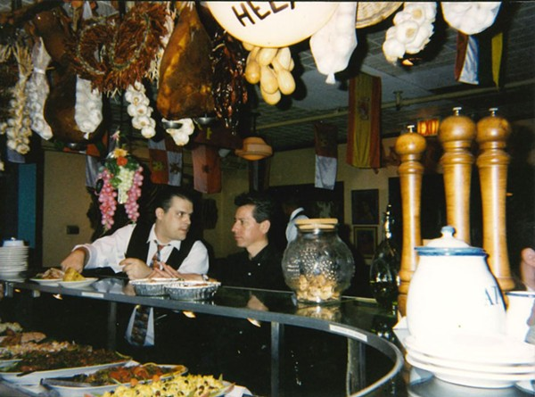 It's unclear when—or why—the adornments above the bar at Cafe Ba-Ba-Reeba! were retired. - COURTESY MARK SOTELINO