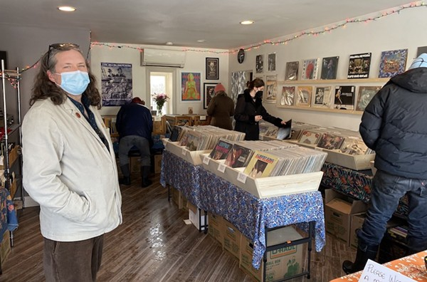 Black Squirrel Records owner Michael Dedmon welcomes customers to the shop. - COURTESY BLACK SQUIRREL RECORDS