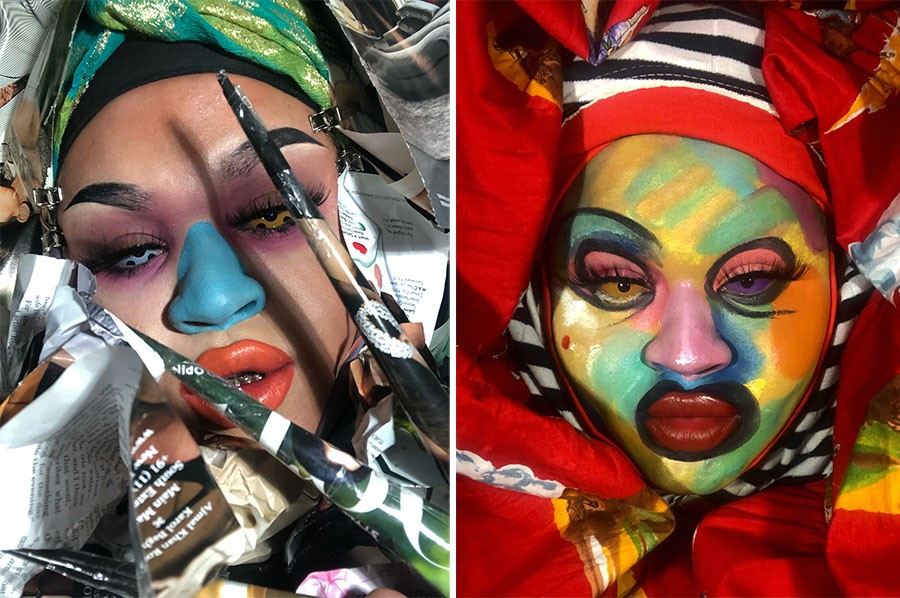 """Performer, musician, and makeup and visual artist Cae Monāe collaborated with Pixel Grip on """"Demon Chaser."""" - CAE MONĀE"""