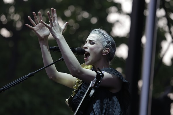 St. Vincent, shown here during her 2014 Pitchfork appearance, headlines the festival's second night. - ANTHONY SOAVE FOR CHICAGO READER