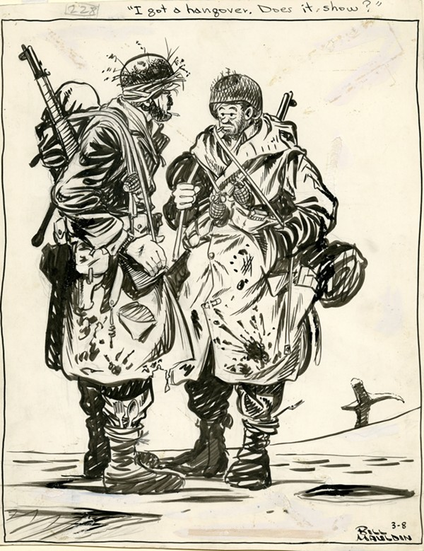"""""""Willie and Joe"""" in a Bill Mauldin WWII-era cartoon. - COPYRIGHT PRITZKER MILITARY MUSEUM & LIBRARY"""