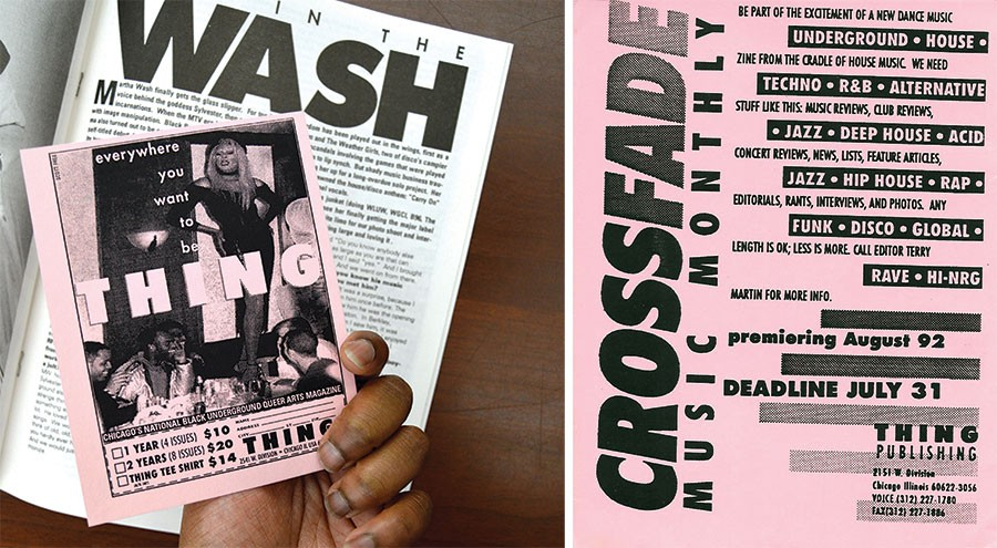 A subscription card tucked into an issue of Thing; Terry Martin's handbill soliciting pitches for the first Crossfade in 1992 - AMBER HUFF; COURTESY TERRY MARTIN