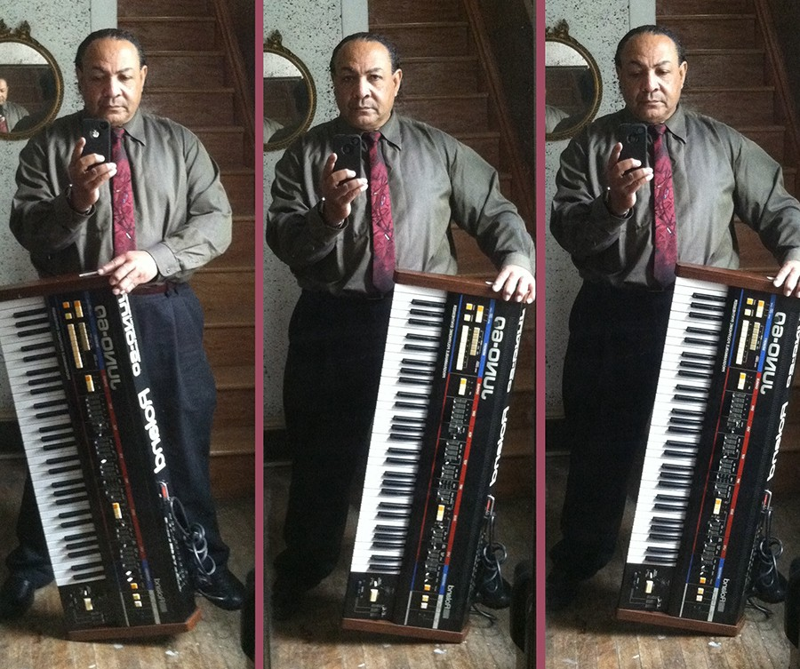 Rodney James Baker, who performed and recorded as Rodney Bakerr, sent these photos to the author in 2013. - RODNEY JAMES BAKER