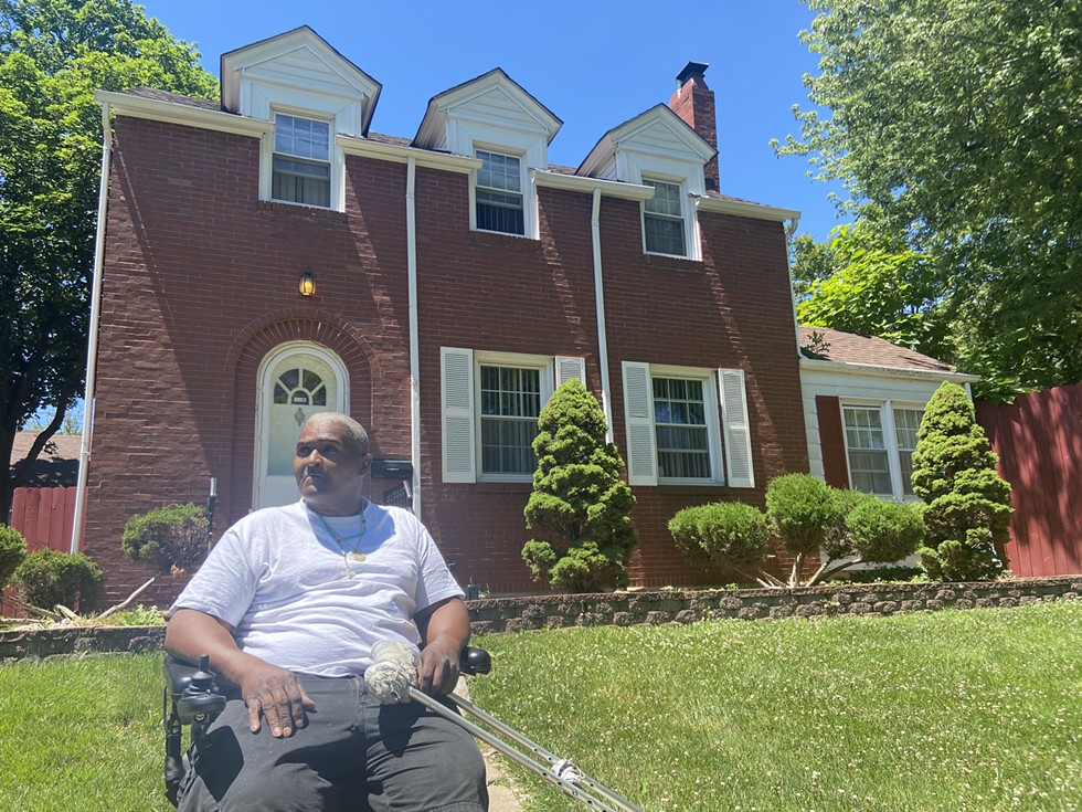 Willie Jones outside the Elite Houses of Sober Living's facility in Chicago Heights - MICHAEL MURNEY