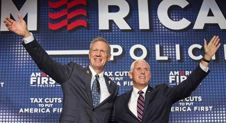 Rauner showers praise on Mike Pence, leaving no doubt how he feels about gay marriage