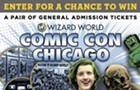 Enter for a chance to win a pair of General Admission tickets for Wizard World Comic-Con on Sunday, August 23rd