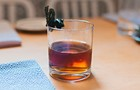 Watch MFK bartender Roger Landes make a manhattan using seaweed