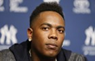 'Man in the black leather' Aroldis Chapman joins Cubs' bullpen