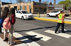 Ana the Irving Park crossing guard confronts dangerous and disrespectful drivers to keep kids safe