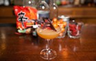 Watch a Drifter bartender make a farm-fresh cocktail with instant ramen seasoning