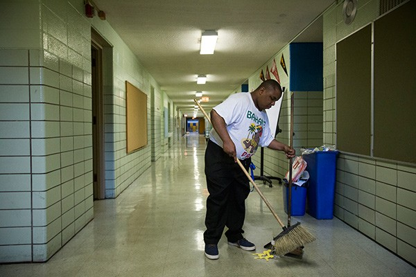Since the Chicago Public Schools privatized custodial services, many teachers and classroom volunteers have been forced to double as janitors.